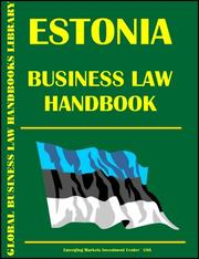 Cover of: Ethiopia Business Law Handbook