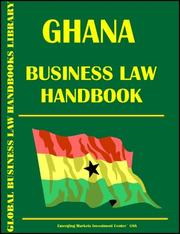 Cover of: Ghana Business Law Handbook
