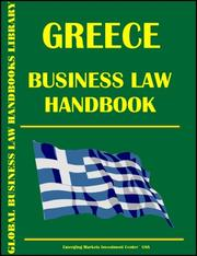 Cover of: Greece Business Law Handbook