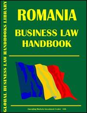 Cover of: Romania Business Law Handbook