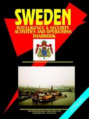 Cover of: Sweden Intelligence & Security Activities & Operations Handbook