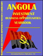 Cover of: Angola Business & Investment Opportunities Yearbook