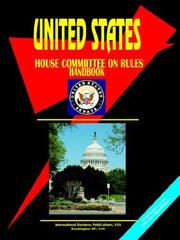 Cover of: US House Committee on Rules Handbook (Us Political Library) | USA IBP