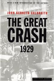 Cover of: The great crash, 1929