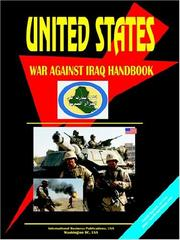 Cover of: US War Against Iraq Handbook Political Strategy and Operations | USA IBP