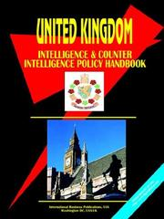 Cover of: Uk Intelligence & Counterintelligence Handbook | USA International Business Publications