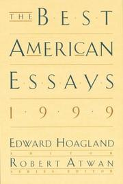Cover of: The Best American Essays 1999 (The Best American Essays) | Edward Hoagland