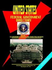 Cover of: US Federal Government Directory, Vol.1 Business