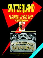 Cover of: Switzerland Central Bank & Financial Policy Handbook