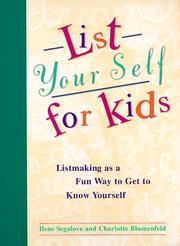 Cover of: List Your Self For Kids