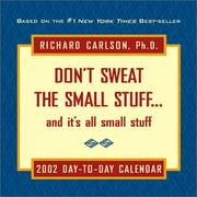 Cover of: Don't Sweat The Small Stuff 2002 Day-To-Day Calendar