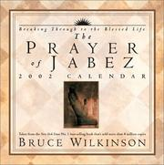 Cover of: Prayer of Jabez 2002 Day-to-Day Calendar