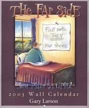 Cover of: The Far Side Just Plain Stupid! 2003 Calendar