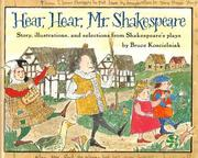 Cover of: Hear, hear, Mr. Shakespeare