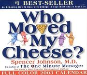 Cover of: Who Moved My Cheese 2003 Block Calendar
