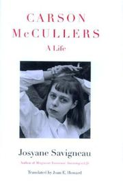 Cover of: Carson McCullers