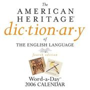 Cover of: The American Heritage Dictionary of the English Language