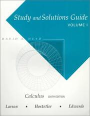 Cover of: Study and Solutions Guide for Calculus | Ron Larson