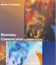 Cover of: Nonverbal communication in everyday life