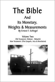 Cover of: The Bible and its Monetary Weights and Measurments Volume 2 Old