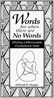 Cover of: Words for when there are No Words
