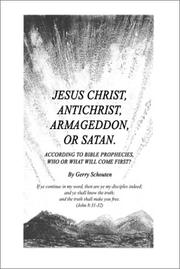 Cover of: Jesus Christ, Antichrist, Armageddon, or Satan