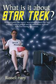Cover of: What is it about Star Trek?