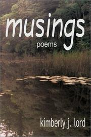 Cover of: Musings Poems