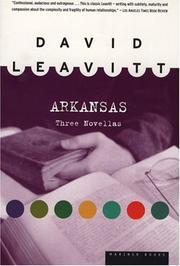Cover of: Arkansas | David Leavitt