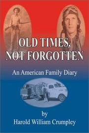 Cover of: Old Times Not Forgotten