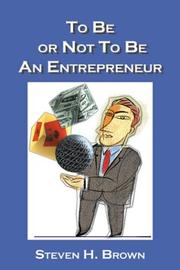 Cover of: To Be or Not to Be an Entrepreneur