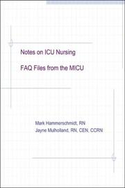 Cover of: Notes on ICU Nursing