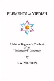 Cover of: Elements of Yiedish