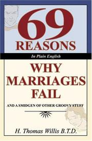 Cover of: 69 Reasons in Plain English Why Marriages Fail and a Smidgen of Other Groovy Stuff