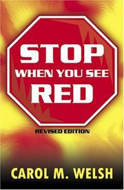 Cover of: Stop When You See Red