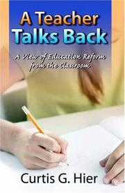 Cover of: A Teacher Talks Back