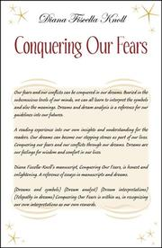 Cover of: Conquering Our Fears