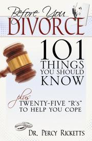 Cover of: Before You Divorce