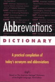 Cover of: Abbreviations dictionary