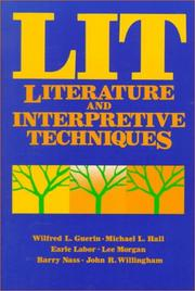 Cover of: LIT--literature and interpretive techniques |