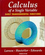 Cover of: Calculus | Ron Larson