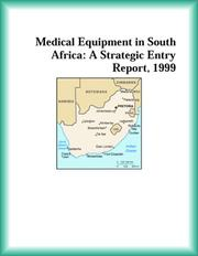 Cover of: Medical Equipment in South Africa | The Healthcare Research Group