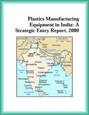 Cover of: Plastics Manufacturing Equipment in India | Research Group