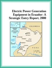 Cover of: Electric Power Generation Equipment in Ecuador | Energy Research Group