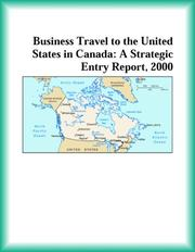 Cover of: Business Travel to the United States in Canada | Services Industries Research Group