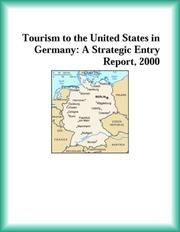 Cover of: Tourism to the United States in Germany | Services Industries Research Group