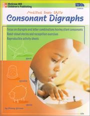 Cover of: Consonant Digraphs (Modified Basic Skills)