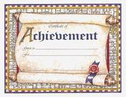Cover of: Certificate of Achievement (Award Certificates) |