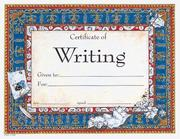 Cover of: Certificate of Writing |