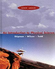 Cover of: An introduction to physical science
